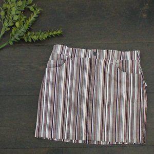 FOREVER 21 Pinstripe Mini Skirt